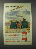 1959 Winston Cigarettes Ad - Filter-Blend Here