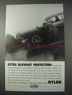1959 Du Pont Nylon Ad - Blowout Protection