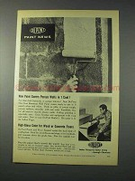 1959 Du Pont One-Coat Basement Wall Paint Ad