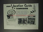 1959 Tennessee Tourism Ad - Vacation Guide