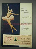 1959 Modess Tampons Ad - Flexible