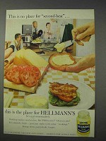 1959 Hellmann's Mayonnaise Ad - No Second-Best
