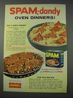 1959 Hormel SPAM Ad - SPAM 'N Noodles Romanoff