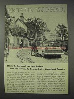 1959 Vauxhall Car Ad - Fine Small Car from England