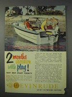 1959 Evinrude Outboard Motor Ad - 2 Months Vacation