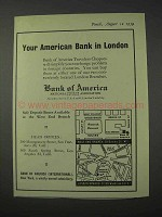 1959 Bank of America Ad - Your American Bank in London