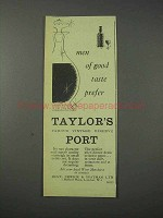 1959 Taylor's Port Ad - Men of Good Taste Prefer