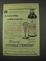 1959 Domecq's Double Century Sherry Ad - Crowning