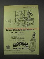 1959 Angostura Aromatic Bitters Ad - Red Admiral