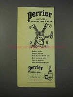 1959 Perrier Water Ad - Natural Sparkling