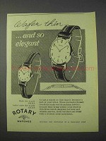 1959 Rotary Watch Ad - Wafer Thin Watch