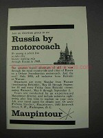1959 Russia Maupintour Ad - Russia By Motorcoach