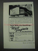 1959 West Virginia Tourism Ad - Mont Chateau Lodge