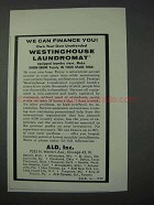 1959 Westinghouse Laundromat Ad - Finance You