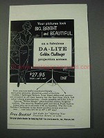 1959 Da-Lite Golden Challenger Projection Screen Ad
