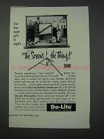 1959 Da-Lite Projection Screen Ad - Screen's The Thing