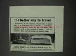 1959 Airstream Trailer Ad - Better Way to Travel
