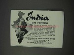 1959 India Tourism Ad - Life Patterns