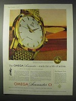 1958 Omega Seamaster Watch Ad - Life of Action