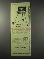 1958 Army and Navy Stores Ad - Barbecue Party