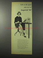 1958 Imperial 66 Typewriter Ad - Talk to the Typist