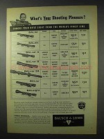 1958 Bausch & Lomb Rifle Sights Ad - BALfor, BALsix