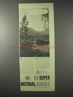 1958 Super National Benzole Petrol Ad - National Heritage