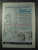 1958 National Sliding Door Hardware Ad - For The Best