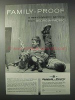 1958 Georgia-Pacific Paneling Ad - Family-Proof