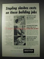 1958 Bostitch Staplers Ad - T5 Tacker, H4 Hammer
