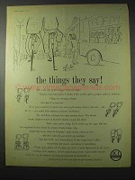 1958 Imperial Chemicals Industries Ad - The Things They Say
