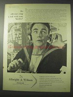 1958 Albright & Wilson Chemicals Ad - Ring A Bell With