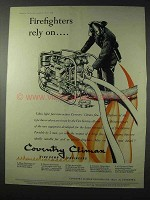 1958 Coventry Climax Fire Pump Ad - Firefighters Rely