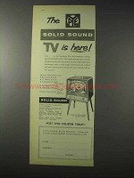 1958 Pye CTL58 Television Ad - The Solid Sound TV