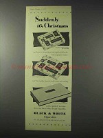 1958 Marcovitch Black & White Cigarettes Ad - Christmas