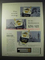1958 Rothmans of Pall Mall King Size Cigarettes Ad