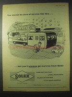 1958 Solex Carburettor Ad - Be Sure of Services