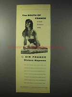 1958 Air France Ad - The South of France