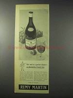 1958 Remy Martin Cognac Ad - Decreed by French Law