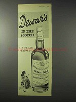 1958 Dewars Scotch Ad - It Never Varies