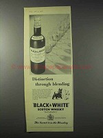 1958 Black & White Scotch Ad - Distinction Blending