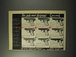 1958 Galesi Pistols Ad - The Sole and Original