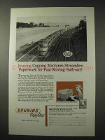 1958 Bruning Copyflex Copy Machine Ad - NYC Railroad