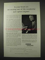1958 Conn Organ Ad - Heart Set on New Spinet Organs