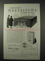 1958 Rock of Ages Mausoleums Ad - Private Family