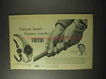 1958 Smiths Watch Ad - Dai Rees; model B.314; A.358