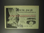 1958 Avia Watch Ad - Model 678; Olympic Model 864