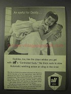 1958 All Detergent Ad - An Eyeful for Daddy