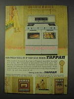 1958 Tappan Range Ad - Proud of Your Gold Ribbon