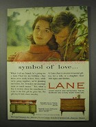 1958 Lane Serenade, Pyramid Chests Ad - Symbol of Love